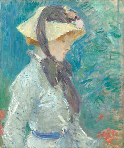 Young Woman with a Straw Hat Berthe Morisot